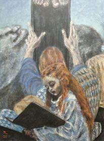 Maria magdalena, Engel, Kreuz, Malerei