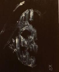 Selbstportrait, Memento mori, Erscheinung, Hell