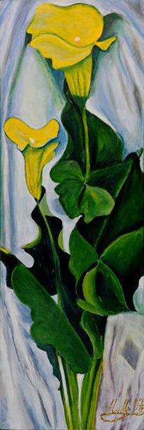 Gelb, Grün, Blüte, Blumen