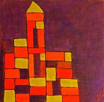 Abstrakt, Lego, Temperamalerei, Mdf