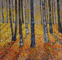 Spaziergang, Wald, Malerei