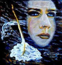 Ölmalerei, See, Portrait, Erinnerung
