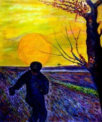 Vincent van gogh, Baum, Sonne, Gefühl