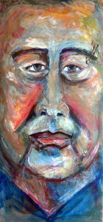 Freie interpretation, Expressionismus, Portrait, Mann