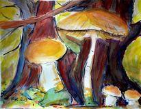 Pilze, Werkzeug, Baum, Natur