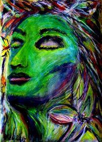 Geist, Gesicht, Fantasie, Expessiv