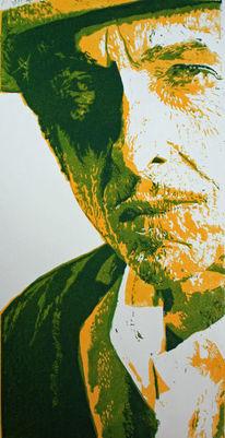 Hochdruck, Portrait, Bob dylan, Druck