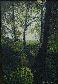 Grün, Landschaft, Strauch, Blau