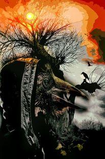 Herbst, Geist, Natur, Digitale kunst
