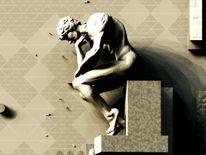 Transzendenz, Gedanken, Physiker, Digitale kunst