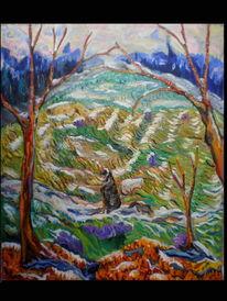 Malerei, 2013, Winter, Spanisch