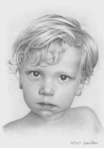 Portraitzeichnung, Bleistiftzeichnung, Realismus, Zeichnungen