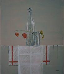 Verfall, Lampionblume, Glas, Stein