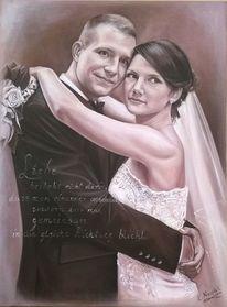 Fotorealismus, Mann, Brautpaar, Liebe