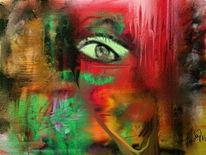 Abstrakt, Blinde, Wut, Malerei