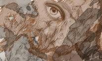 Gedanken, Abstrakt, Freie, Malerei