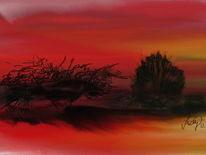 Wüstentrockenheid, Malerei