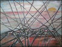 Strand, Galopper, Gestaltung, Abstrakt