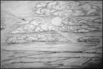 Sone, Landschaft, Wolken, Skizze