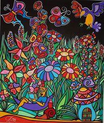 Garten, Fantasie, Malerei,