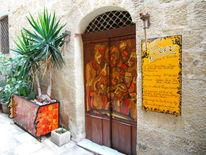 Tür, Bar, Eingang, Blumen