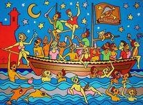 Schiff, Party, Malta, Pirat