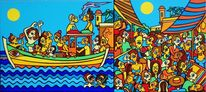Schiff, Sonne, Markt, Meer