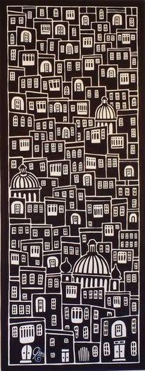 Stadt, Malta, Malerei