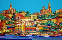 Gozo, Malta, Mgarr, Malerei