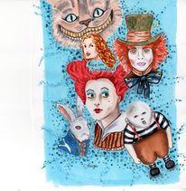 Copic, Alice im wunderland, Malerei, Wunderland