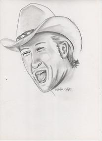 Cowboy, Portrait, Malerei