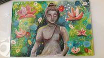 Spirituell, Intuitives malen, Budda, Malerei