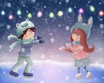 Winter, Eis, Schnee, Schlittschuhlaufen