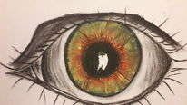 Augen, Bunt, Blick, Pastellmalerei