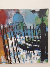 Landschaft, Acrylmalerei, Venedig, Malerei