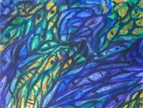 Gelb, Gothik, Aquarellmalerei, Grün
