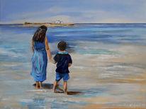 Meer, Blau, Wasser, Kapelle