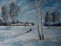 Winter, Verschneien, Birken, Winterlandschaft