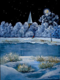 Winterlandschaft, Romantik, Glitzern, Winter