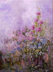 Rosa, Zarte blüten, Duft, Malerei