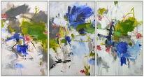 Flusslandschaft, Abstrakter expressionismus, Landschaft, Grün