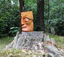 Skulptur, Holzskulptur, Lehnschulze, Plastik