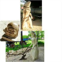 Pappeln, Skulptur, Ein punkt, Oderbruch