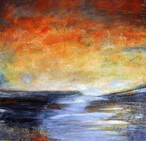 Horizont, Struktur, Acrylmalerei, Landschaft