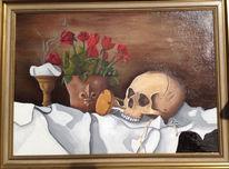Stillleben, Tod, Schädel, Vergänglichkeit
