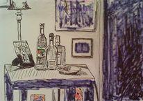 Schale, Couchtisch, Wohnzimmer, Tischleuchte
