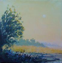Landschaft, Weite, Morgen, Sonnenaufgang