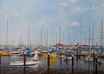 Yacht, Hafen, Motorboot, Brautpaar