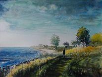 Meer, Wind, Küste, Weite