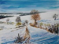Schnee, Winter, Schatten, Landschaft